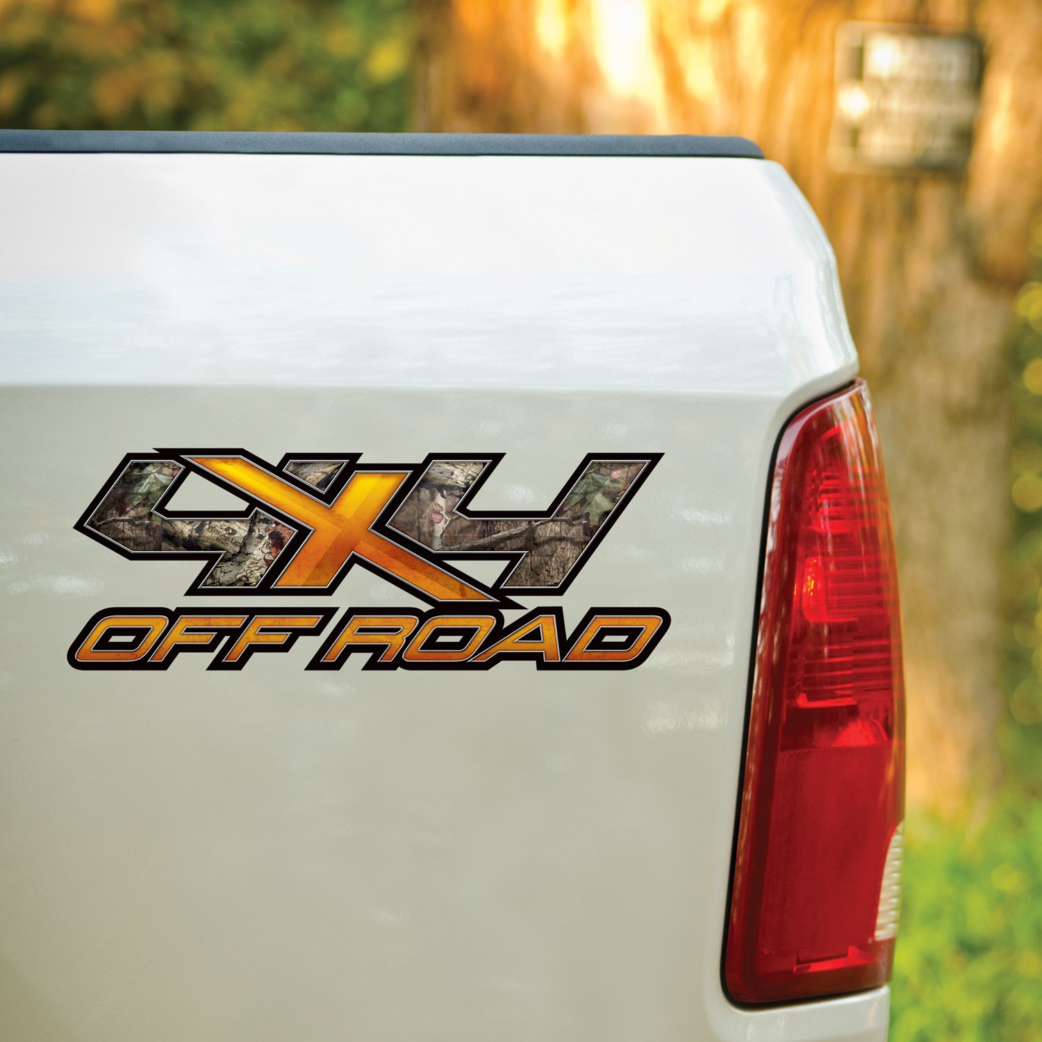 13036-BI-L 17 x 6.5 Break-Up Infinity 4X4 Orange X Style Decal Mossy Oak Graphics