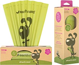 Earth Rated Dog Waste Bags, Poop Bags on a Single Roll for Pantries (not on small rolls)