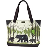 Chala Safari - Tote Bag , Canvas Tote - Detachable Charm / Keychain