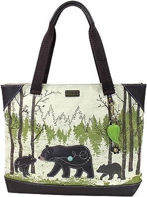 Chala Bear /& Cub Canvas Mini Crossbody Bag Small Convertible Purse New