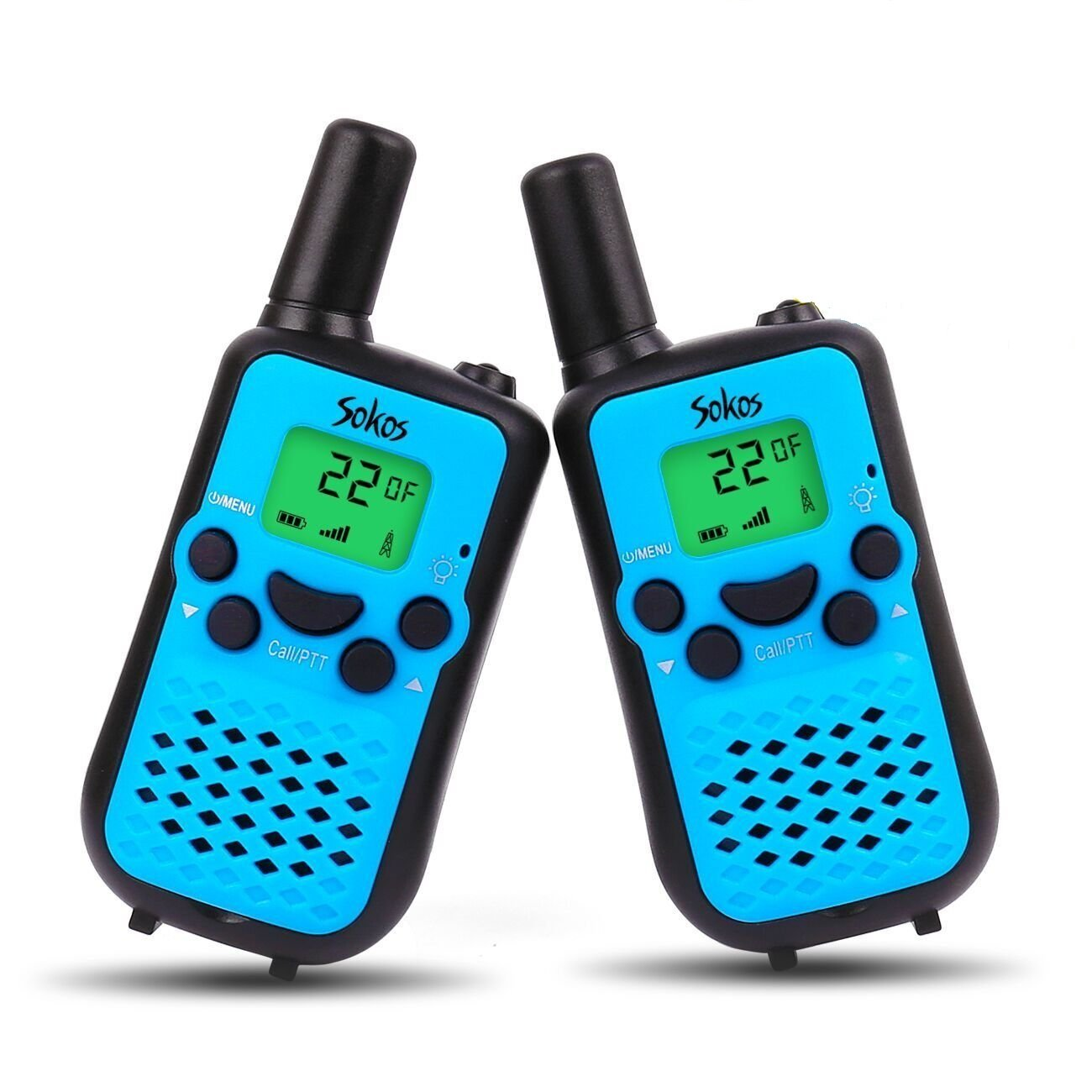 Walkie Talkies for Kids, 22 Channel Walkie Talkies 2 Way Radio 3 Miles (Up to 5Miles) Handheld Mini Walkie Talkies for Kids, Toys for 5-Year Old Boys and Girls, Ideal Present for Children by Dr.fasting (Image #1)