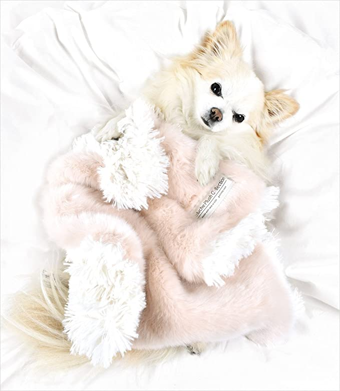 Amazon.com : Peluche Plush Luxury Two-Tone Reversible Faux Fur Dog/Pet Carrier Blanket (13