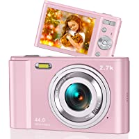 """44MP Small Digital Camera for Photography Beginners, 2.7K Vlogging Camera 2.88"""" IPS 16X Digital Zoom Point and Shoot…"""
