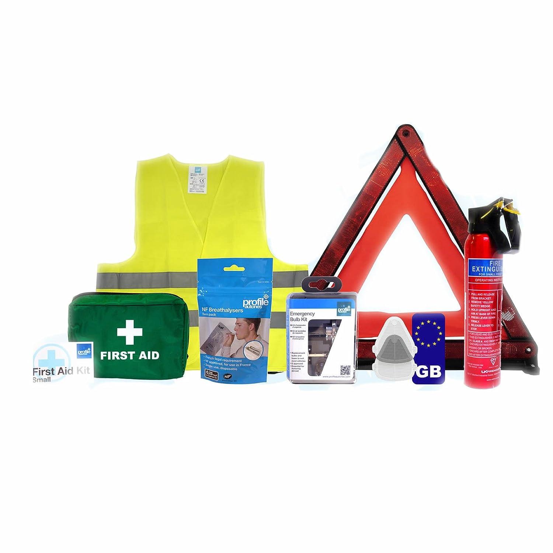 Car Travel Abroad kit - European car kit - Driving in Euro EU Emergency Uk New Profile Auto