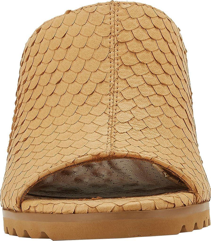 Walking Cradles Womens Nia Camel Cut Snake Print Leather Sandal