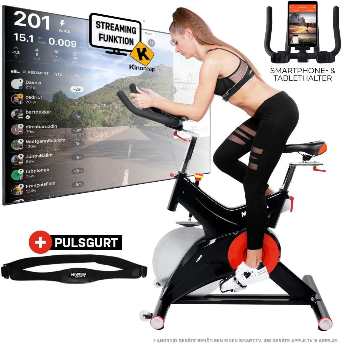 Miweba Sports MS500 - Bicicleta estática profesional, 25 kg, masa ...