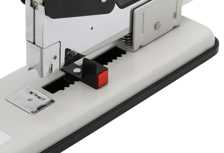 de registro de grapadora Grapadora grapadora hasta 100/hojas grapadora profesional de acero inmediata Start transparente con 3.000/grapas