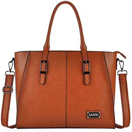 6630d0604c1 Best Laptop Bags for Women,15.6 Inch Women Briefcase Large Wing Designer  Work Tote Computer Bag(Brown)