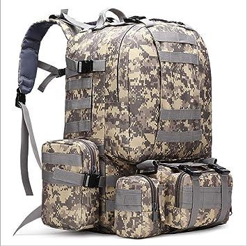 HPCAGLL MenŽs Camping Bag Oxford Cloth Mochila Exterior Camuflaje Ejército Senderismo Bolsa Montañismo Gran Mochila de combinación táctica, A: Amazon.es: ...
