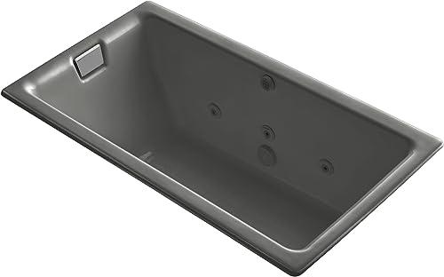 Kohler K-856-H2-58 Tea-For-Two 5.5Ft Whirlpool, Thunder Grey