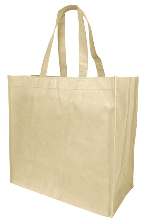 d598a46d7cc Amazon.com  Jumbo Size Reusable Tote Bags with Full Gusset