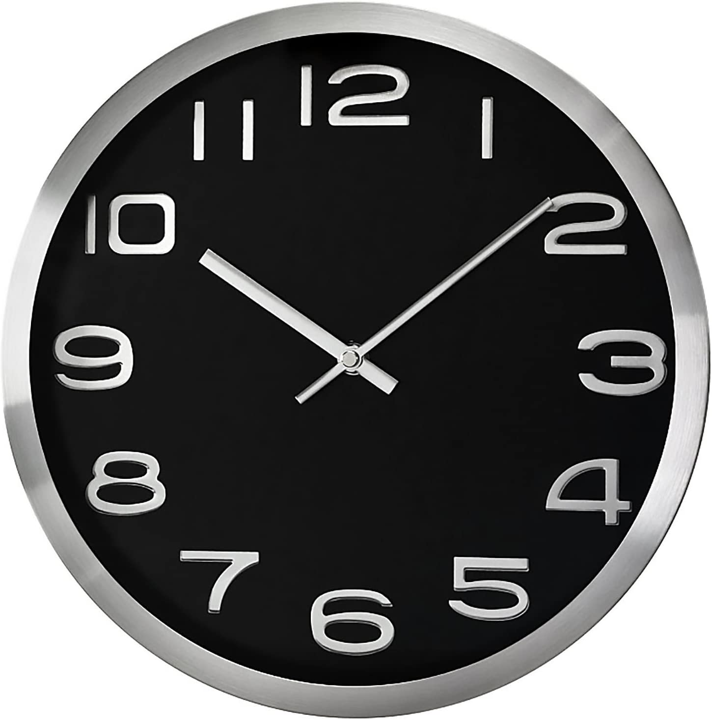 Chermond Wall Clock Metal Case No Second Hand Hq Amazon Co Uk Kitchen Home