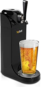 Smart Planet TD-1 TapDraft Beer dispenser with sonic foam generator, 40 oz, Black