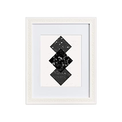 Amazon.com - 11x14 Picture Frame Ornate White - Matted to 8x10 ...