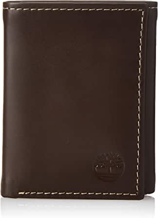 Timberland Mens Leather Trifold Wallet With ID Window