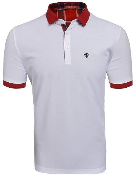 399ad2fea2778 Dickin Casual Polo Shirts for Men Mens Polo Shirts White Men Polo ...