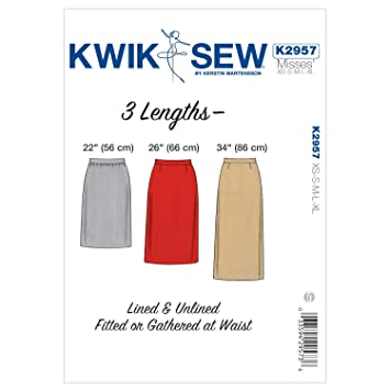 Kwik Sew Mustern k2957 Größe XS/Small/Medium/Large/Extra Große Röcke ...
