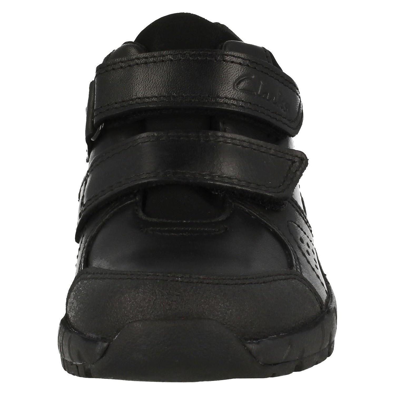 Clarks Zevi Fun GTX Junior Boys School chaussures en noir Black Leather 1½ G  Noir (Black 001) Noël Access Pani  Schwarz (Black)  Chelsea Boots Homme iS1je32nnX