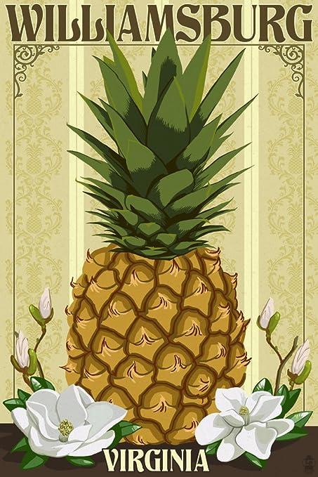 Amazon.com: Williamsburg, Virginia - Colonial Pineapple (9x12 ...