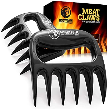 Bear Claws Meat Shredder for BBQ - Perfectly Shredded Meat, These Are The  Meat Claws You Need - Best Pulled Pork Shredder Claw x 2 For Barbecue,