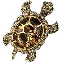Angel Jewelry Women's Crystal Big Turtle Pin Brooch Pendant