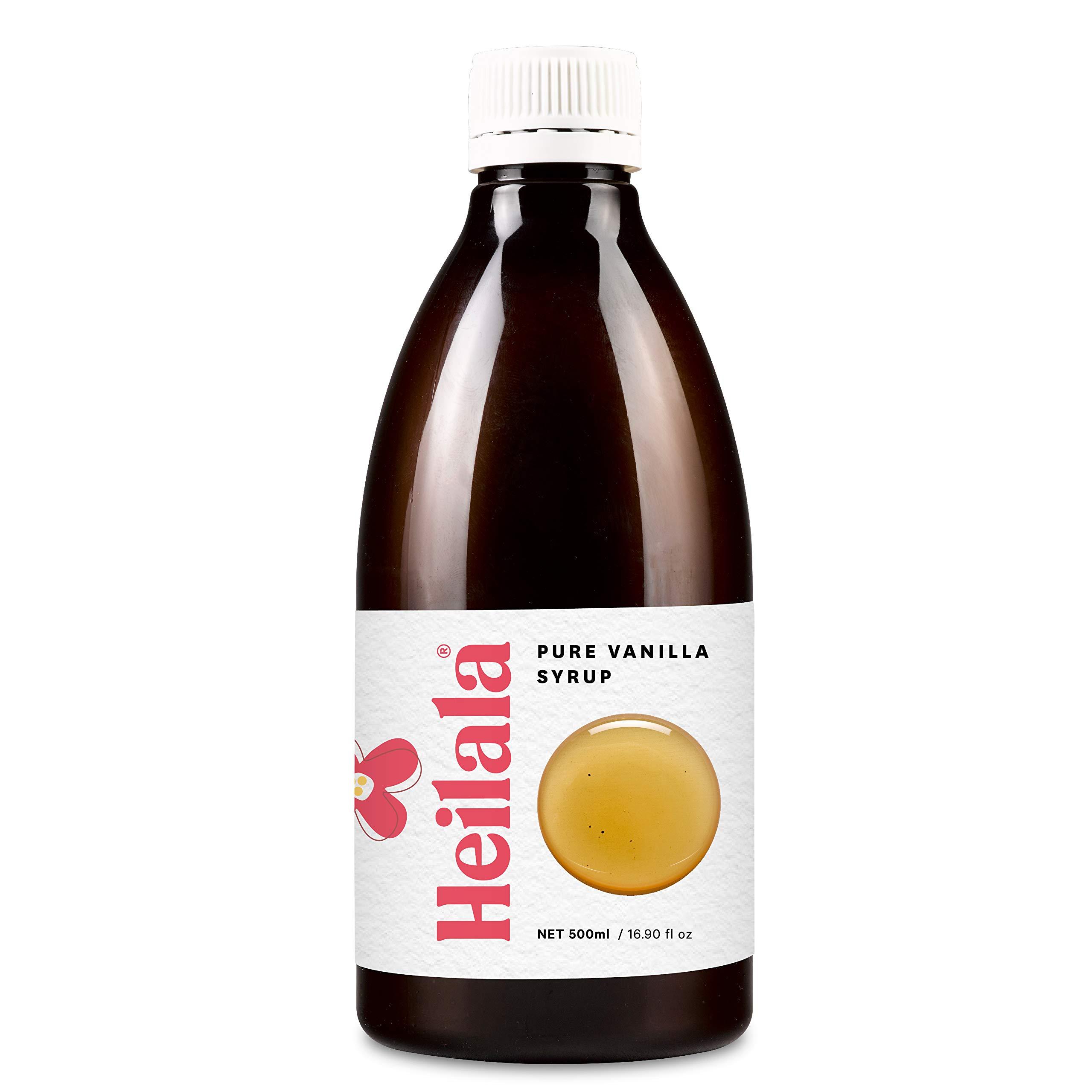 Heilala Vanilla Syrup - Premium Vanilla Bean Syrup Flavoring for Coffee, Cocktails, Pancakes, Ice Cream, 16.90 fl oz