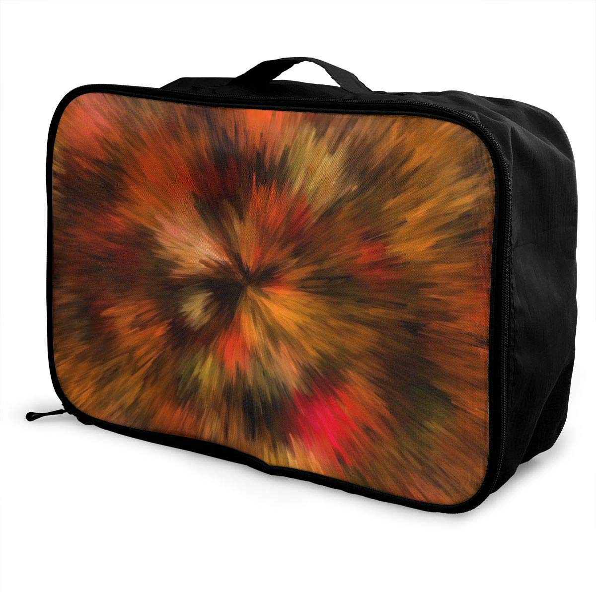 Big Bang Colorful Abstract Travel Lightweight Waterproof Foldable Storage Carry Luggage Large Capacity Portable Luggage Bag Duffel Bag