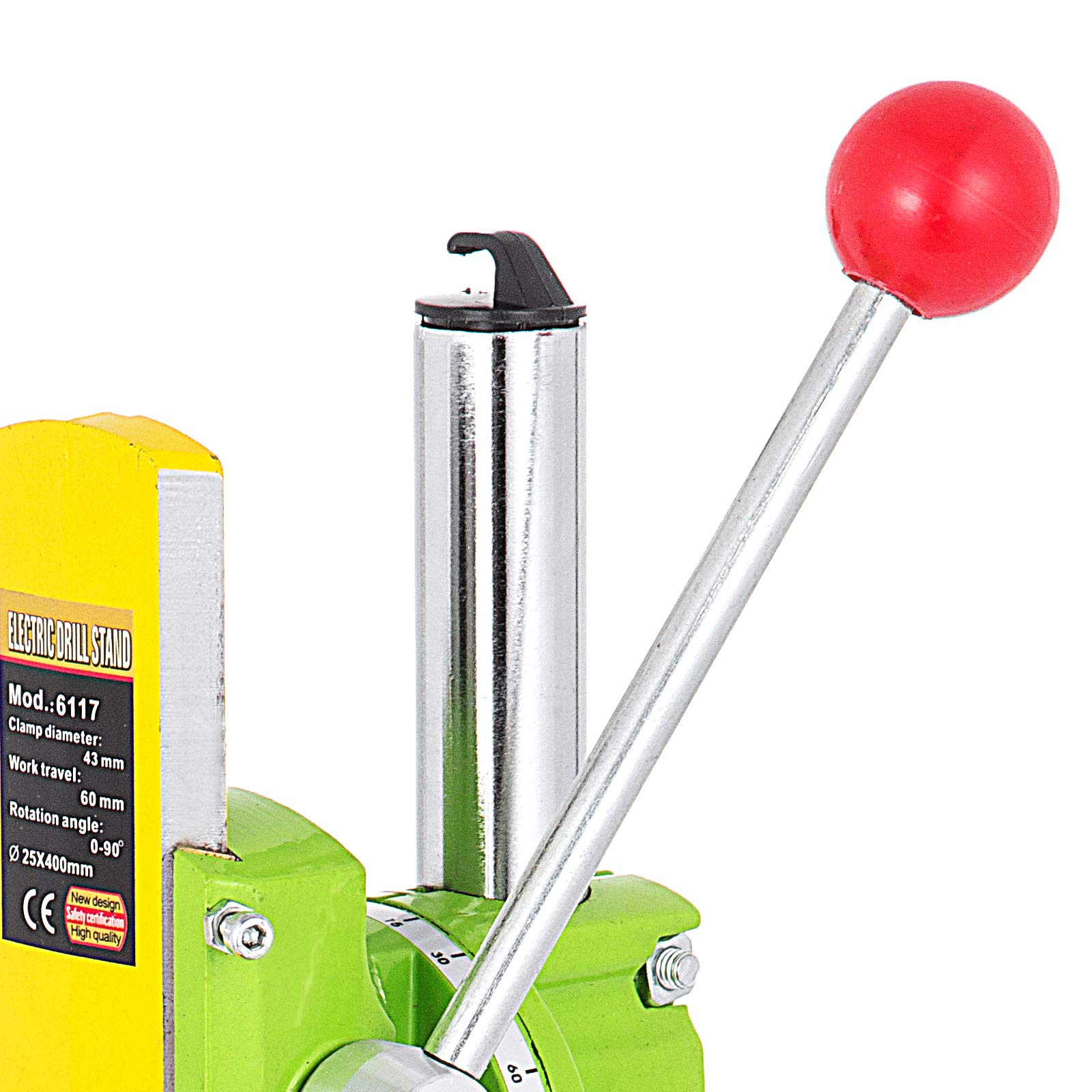 Happybuy Drill Press Stand 90 Degrees Rotary Drill Stand Holder 60mm Work Travel Repair Tool Clamp by Happybuy (Image #8)