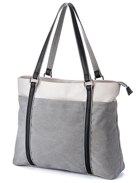 48743ad9f28 Amazon.com  Laptop Tote Bag, GRM Canvas Shoulder Bag, Carrying ...