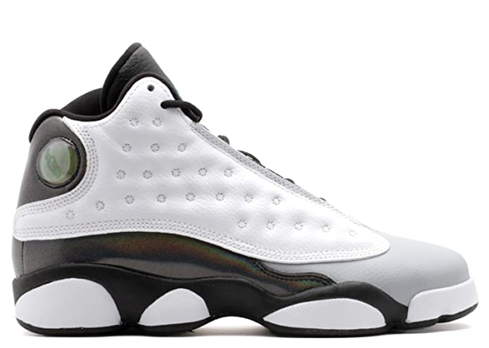 best loved 4164b e7aac Amazon.com   Nike Air Jordan 13 Retro BG Black White Wolf Grey Tropical  Teal 414574-115 (SIZE  3.5Y)   Shoes