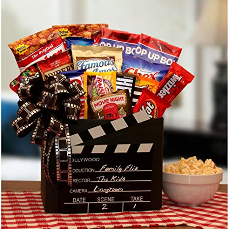 Amazon Com Family Flix Movie Night Gift Box With Red Box Gift Card