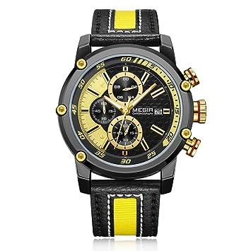 QYXANG Mens Relojes Militares Deporte Impermeable cronógrafo Reloj de Cuarzo Famosos Hombres de Marca de Relojes