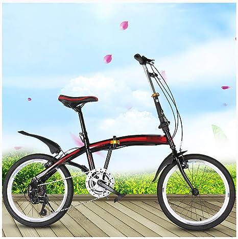 STRTG Bikes Plegado Urbana, Bicicleta Plegable,Sillin Confort,Marco De Acero De Alto Carbono Micro Bike,20 Pulgadas ...