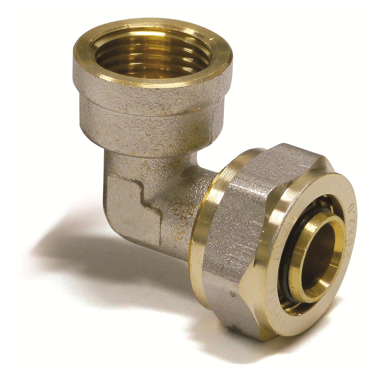 Pipetec Schraubfitting Übergang Kupplung 32x3 mm 3//4 Zoll AG Verbundrohr