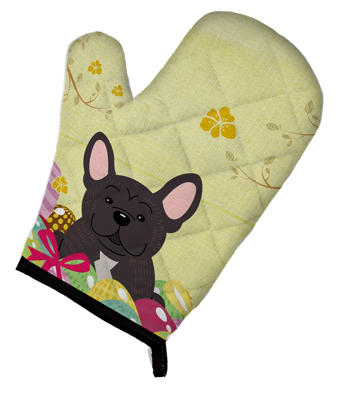 Caroline's Treasures BB6009OVMT Easter Eggs French Bulldog Brindle Oven Mitt, Large, multicolor