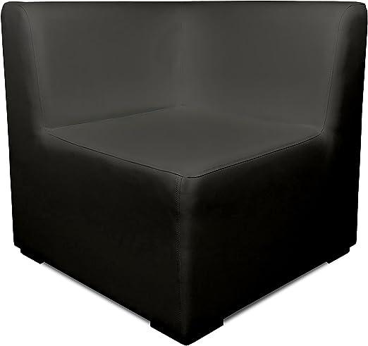 SUENOSZZZ-ESPECIALISTAS DEL DESCANSO Sofa Exterior Modular Benahavis rinconera Color Ceniza tapizado en Polipiel Silva. Chill out Jardin o recepcion.: Amazon.es: Hogar