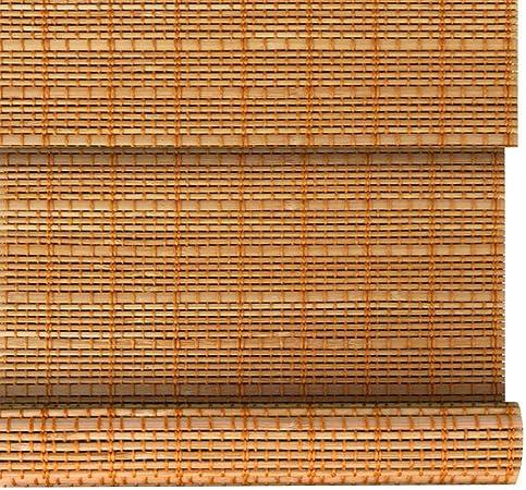 Persianas enrollables de bambú Retro, Cortina Romana, Cortinas de privacidad, tabiques Exteriores/de jardín, persiana Personalizable, 23 tamaños: Amazon.es: Hogar