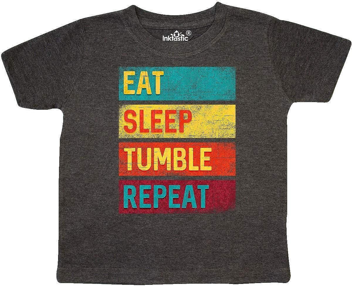 inktastic Tumbling Gift Eat Sleep Tumble Repeat Toddler T-Shirt