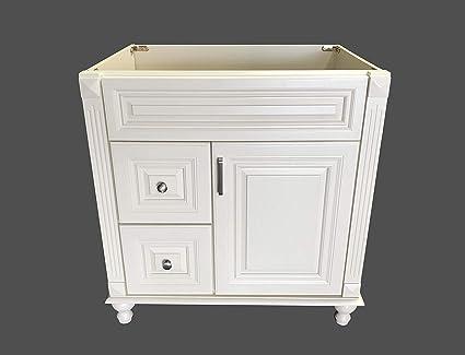 Awe Inspiring Antique White Solid Wood Single Bathroom Vanity Base Cabinet Download Free Architecture Designs Embacsunscenecom