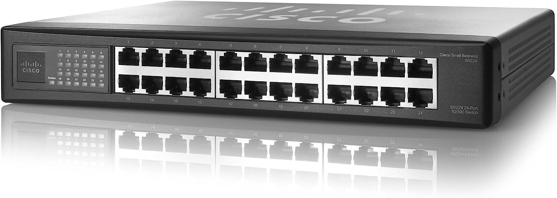 Cisco SR224G Linksys 24 Port 10//100 switch