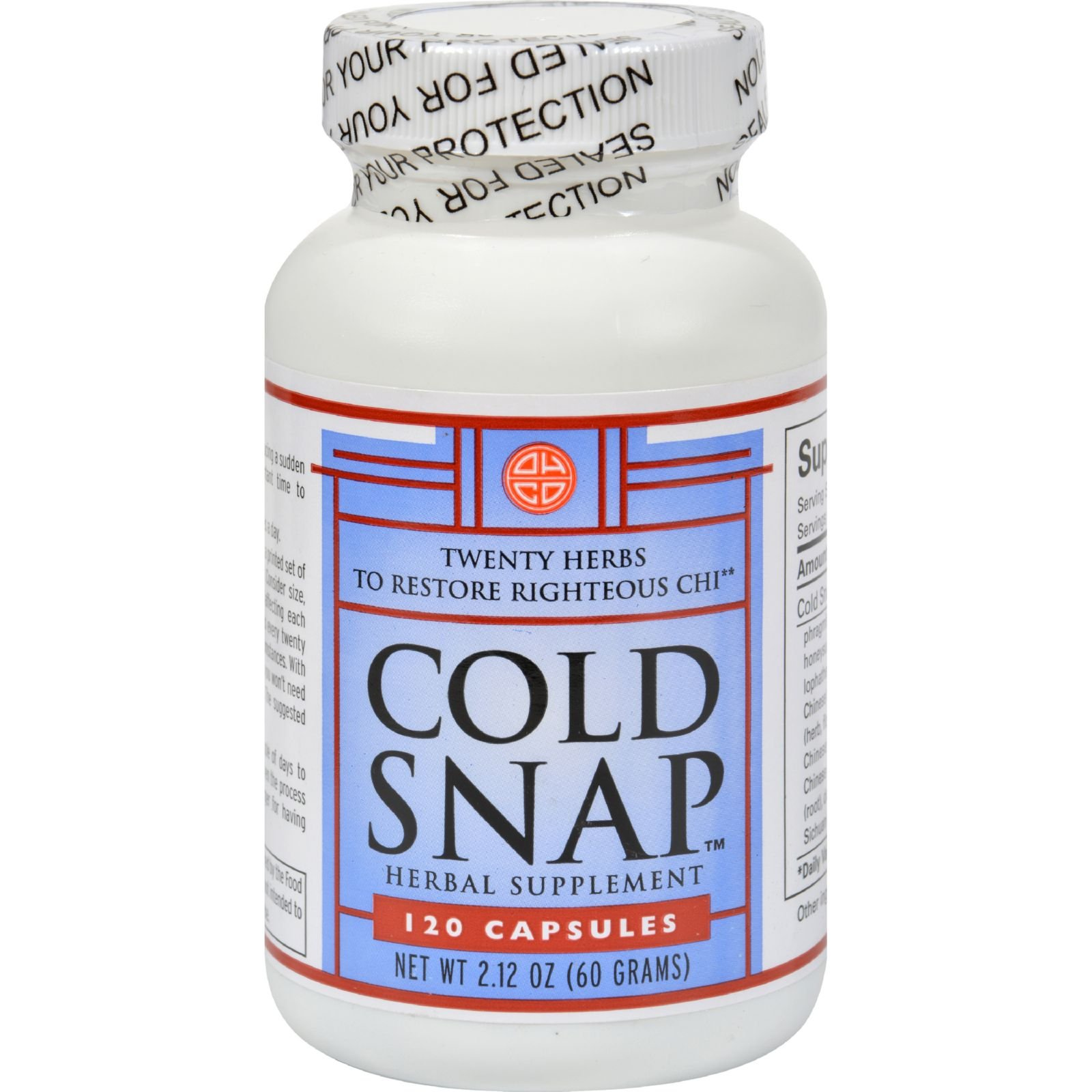 Ohco Cold Snap Caps - Herbal Supplement - 120 Capsules (Pack of 4) by Ohco