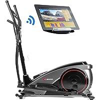 Hop-Sport Elliptical Crosstrainer HS-060C Ergometer Bluetooth, Smartphone Steuerung, 16 Widerstandsstufen, max. Benutzergewicht 150 kg, HRC, WATT, BMI