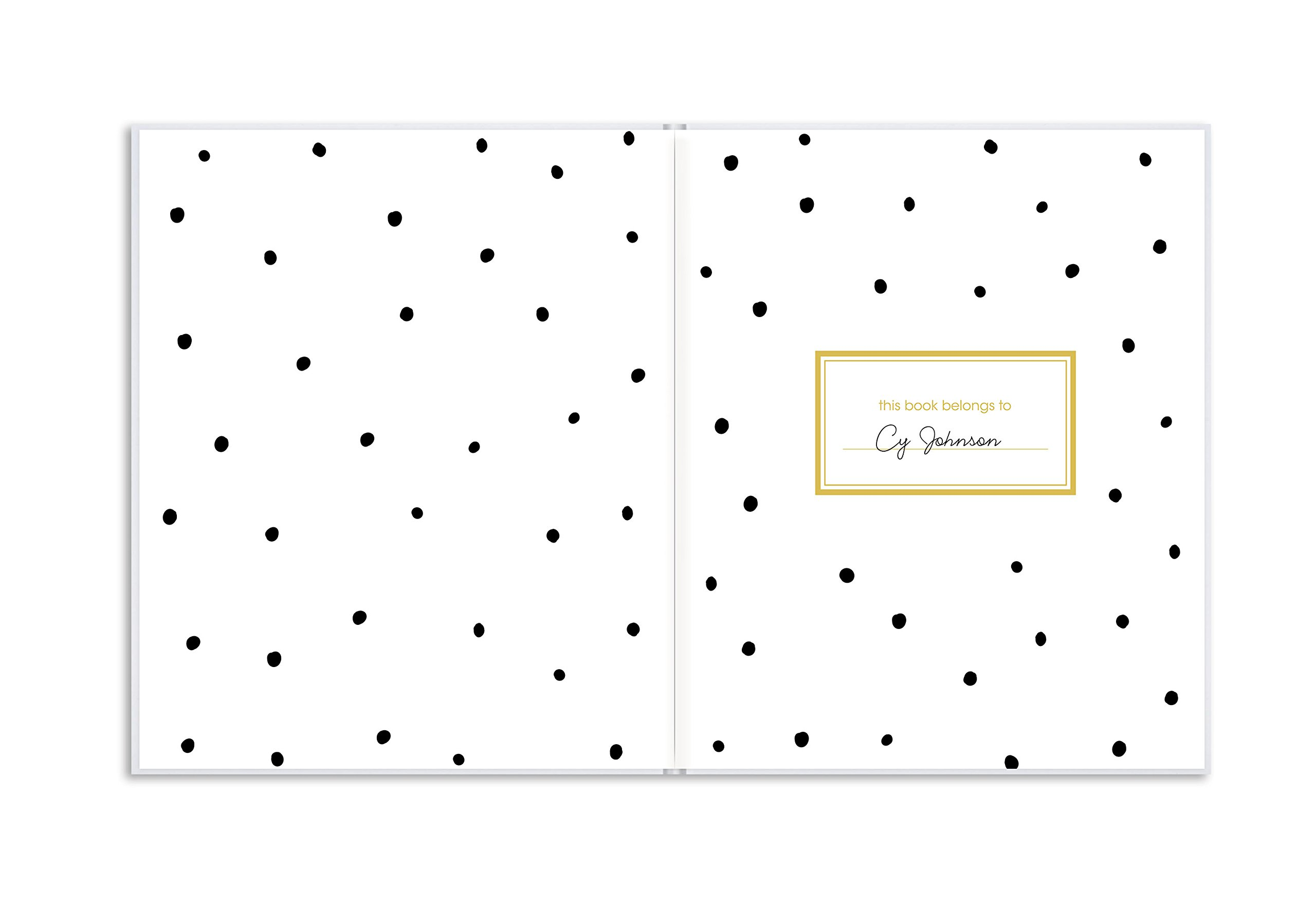 Pearhead First 5 Years Baby Memory Book with Sonogram Photo Insert, Black and Gold Polka Dot by Pearhead (Image #3)