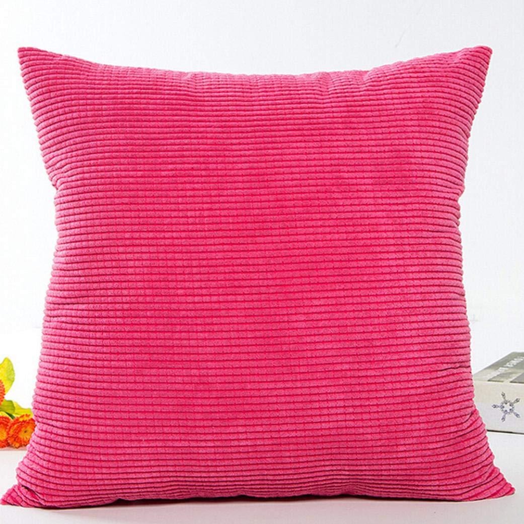 JiaMeng Hojas Sofá Cintura Throw Cushion Cama Decoración del hogar Funda de Almohada Festival Fundas de Cojines