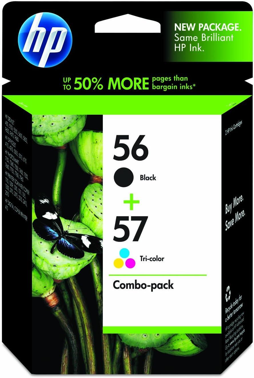 HP 56 Black & HP 57 Tri-color Original Ink Cartridges, 2 pack