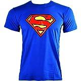 Superman T Shirt DC Comics Emblem (Blu)