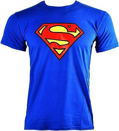 Camiseta DC Comics Superman Emblem (Azul): Amazon.es: Ropa y accesorios
