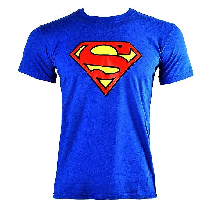 5f98c57179 Camiseta DC Comics Superman Emblem (Azul): Amazon.es: Ropa y accesorios