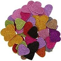 45pcs Coeur de Mousse Paillettes Mélangées Autocollant pour Enfants Artisanat Diy