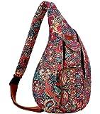 BAOSHA Pattern Sling backpack Crossbody Shoulder Chest Bag Travel Hiking Daypack for Ladies and Women XB-08